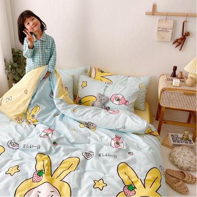 2020年新款-13070全棉日系卡通四件套 床单款三件套1.2m(4英尺)床 捕梦兔