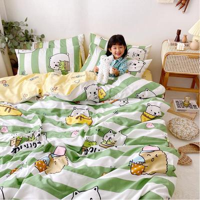 2020年新款-13070全棉日系卡通四件套 床单款三件套1.2m(4英尺)床 初蒲