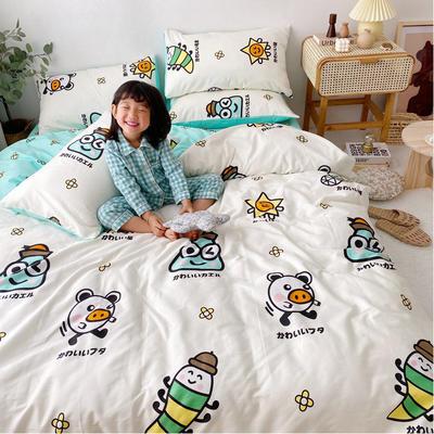 2020年新款-13070全棉日系卡通四件套 床单款三件套1.2m(4英尺)床 初絮