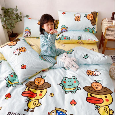 2020年新款-13070全棉日系卡通四件套 床单款三件套1.2m(4英尺)床 同学会