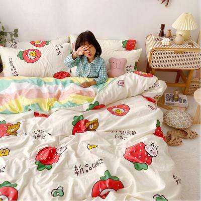 2020年新款-13070全棉日系卡通四件套 床单款三件套1.2m(4英尺)床 童年