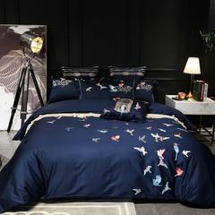 60S埃及长绒棉四件套(蜂鸟) 1.8m(6英尺)床 蜂鸟