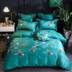60S埃及长绒棉四件套(曼妮) 2.0m(6.6英尺)床 长绒棉小抱枕5/含芯