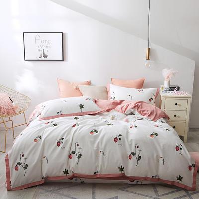 2019春夏新品--长绒棉印花系列 标准=被套:200*230cm 莓果香韵
