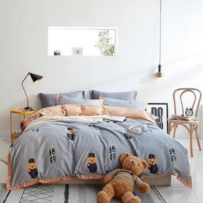 2019春夏新品--长绒棉印花系列 标准=被套:200*230cm 熊熊乐园