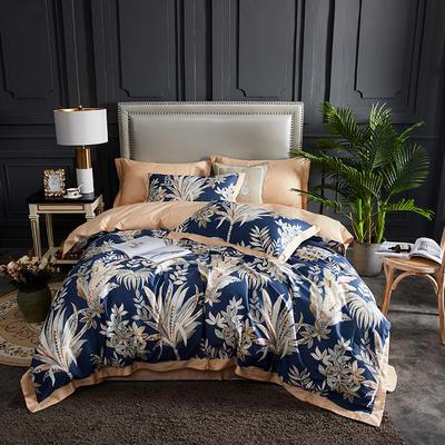 2019春夏新品--长绒棉印花系列 标准=被套:200*230cm 伊顿-蓝