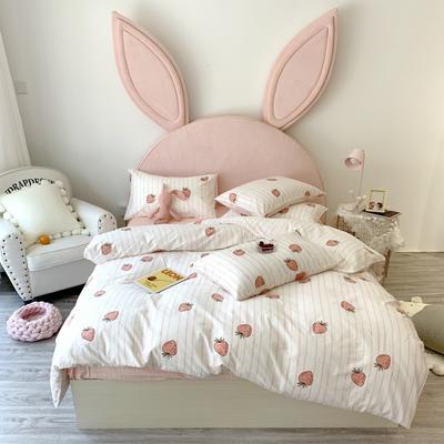 2019新款40支活性印花13372 四件套 1.2m(4英尺)床 甜心草莓
