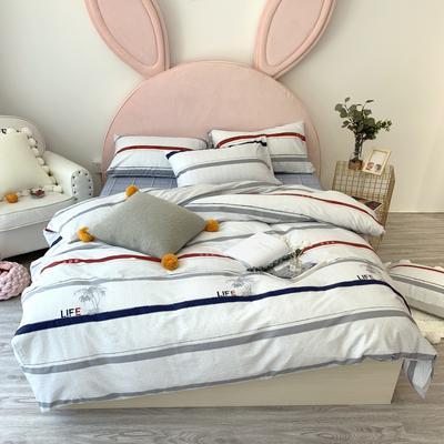 2019新款40支活性印花13372 四件套 1.2m(4英尺)床 时装秀