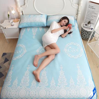 冰柔丝空调凉席 1.5m(5英尺)床 冰柔丝空调软席—蓝