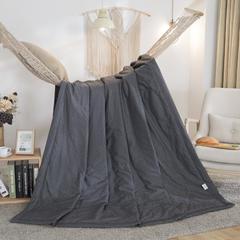 2019新品全棉夏被 100x150cm 波点-黑色