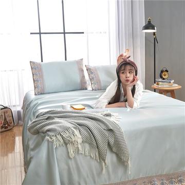 2019新款冰丝纯色蕾丝床单