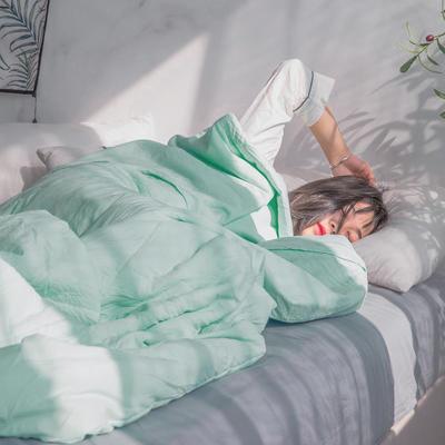 2019新款纽扣水洗棉夏被 150x200cm 草地绿