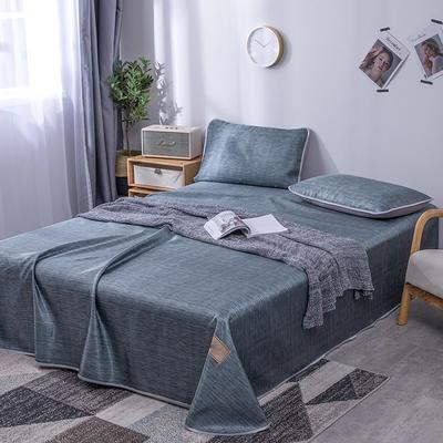 墨绿灰色【冰丝席三件套】 1.8/2.0m床【240*250cm】 墨绿灰色【冰丝席三件套】