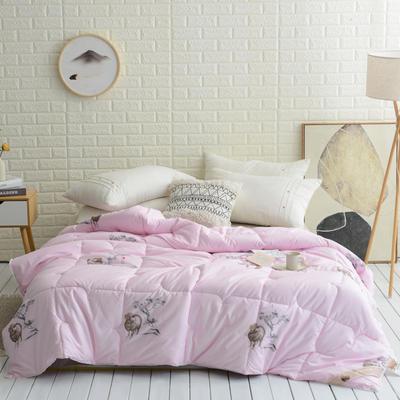 2019臻品奢华羊毛被粉色 150x200cm【5斤】 粉红
