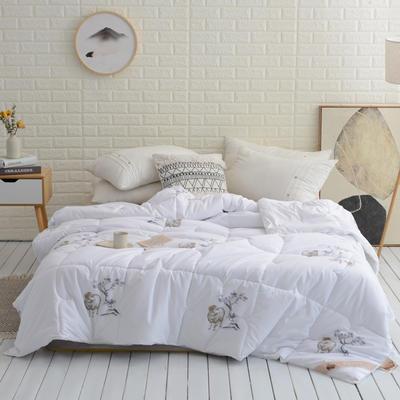 2019臻品奢华羊毛被白色 150x200cm【5斤】 白色