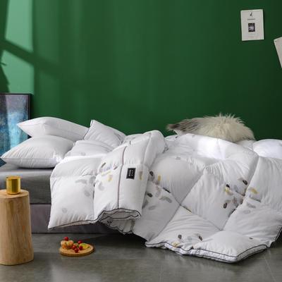 2019新品保暖舒适加厚被子单双人被芯床品雅羽天使羽丝绒被-白 150x200cm【5斤】 白色