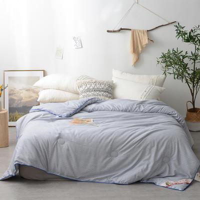 浅色时光精品棉花被 150x200cm【5斤】 浅色时光