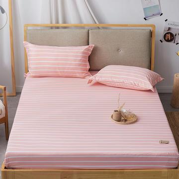 2019无印良品单床笠床罩-玉条纹