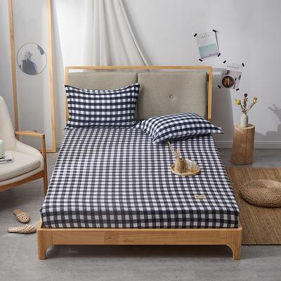 2019无印良品单床笠床罩-黑白格 150cmx200cm 黑白格