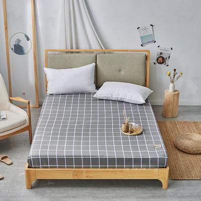 2019无印良品单床笠床罩-深灰格 150cmx200cm 深灰格