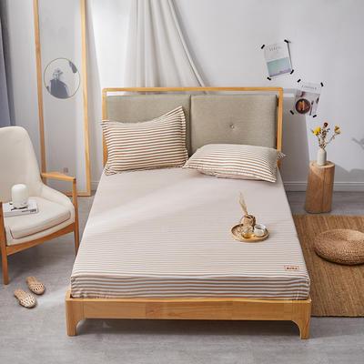 2019无印良品单床笠床罩-条纹咖 150cmx200cm 条纹咖