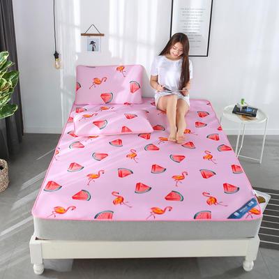 冰柔丝凉席三件套 1.8m(6英尺)床 清凉火鸟-粉