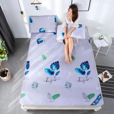 冰柔丝凉席三件套 1.5m(5英尺)床 清新怡人-淡紫