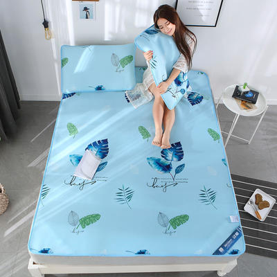 冰柔丝凉席三件套 1.5m(5英尺)床 清新怡人-蓝