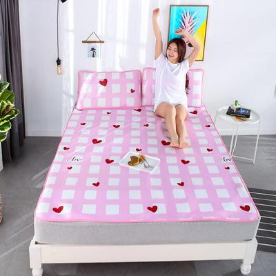 冰柔丝凉席三件套 1.5m(5英尺)床 甜心-粉