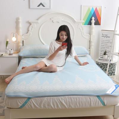 冰柔丝凉席三件套 1.8m(6英尺)床 初夏—蓝