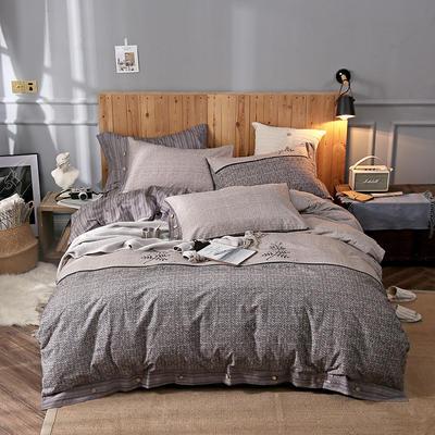 2018新款全棉磨毛肌理纹四件套 1.8m(6英尺)床 暖风
