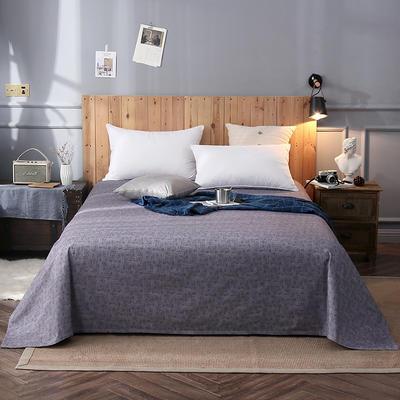 2018新款全棉床单 160*245cm 摩卡