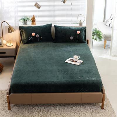 2019新款丽芙绒单品床笠 120cmx200cm 优雅抹绿
