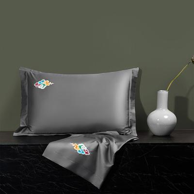 2020新款60长绒棉单品枕套 48cmX74cm/对 炫彩-都市灰