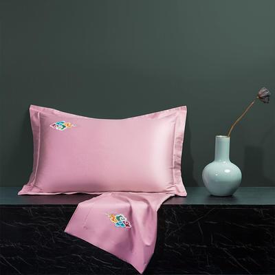 2020新款60长绒棉单品枕套 48cmX74cm/对 炫彩-豆沙红