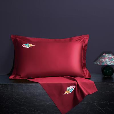 2020新款60长绒棉单品枕套 48cmX74cm/对 炫彩-魅力红