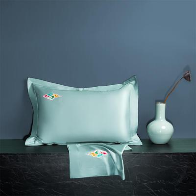 2020新款60长绒棉单品枕套 48cmX74cm/对 炫彩-清新绿