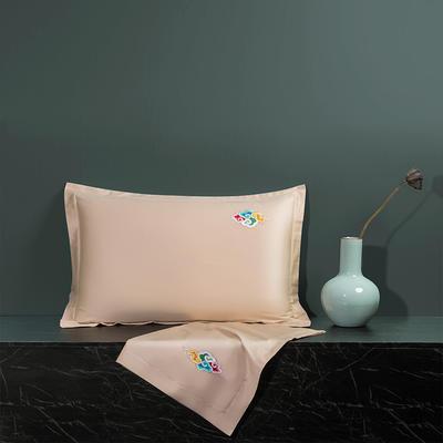 2020新款60长绒棉单品枕套 48cmX74cm/对 炫彩-香槟金