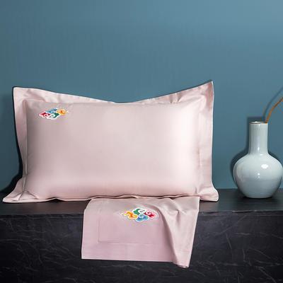 2020新款60长绒棉单品枕套 48cmX74cm/对 炫彩-香妃粉