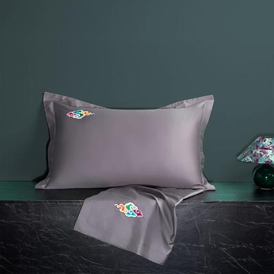 2020新款60长绒棉单品枕套 48cmX74cm/对 炫彩-优雅紫