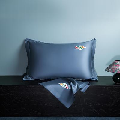 2020新款60长绒棉单品枕套 48cmX74cm/对 炫彩-月光蓝