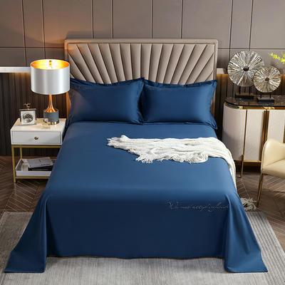 2021新款全棉磨毛单品床单 200x250cm 运动蓝