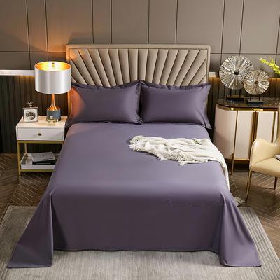 2021新款全棉磨毛单品床单 200x250cm 时尚紫
