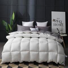 2018新款多格水洗棉冬被 150x200cm(4斤) 白格