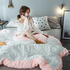 2018新款水洗棉刺绣冬被 150*200cm4斤 粉色