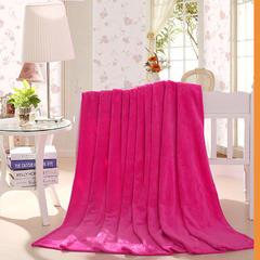 【坦客毯业】法莱绒毛毯系列 1.2*2.0米 玫红色