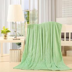 【坦客毯业】法莱绒毛毯系列 1.2*2.0米 苹果绿