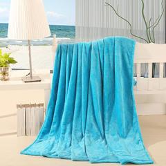 【坦客毯业】法莱绒毛毯系列 1.2*2.0米 天蓝色