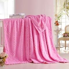 【坦客毯业】金貂绒毛毯系列 120cmx200cm 粉红
