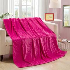 【坦客毯业】金貂绒毛毯系列 120cmx200cm 玫红